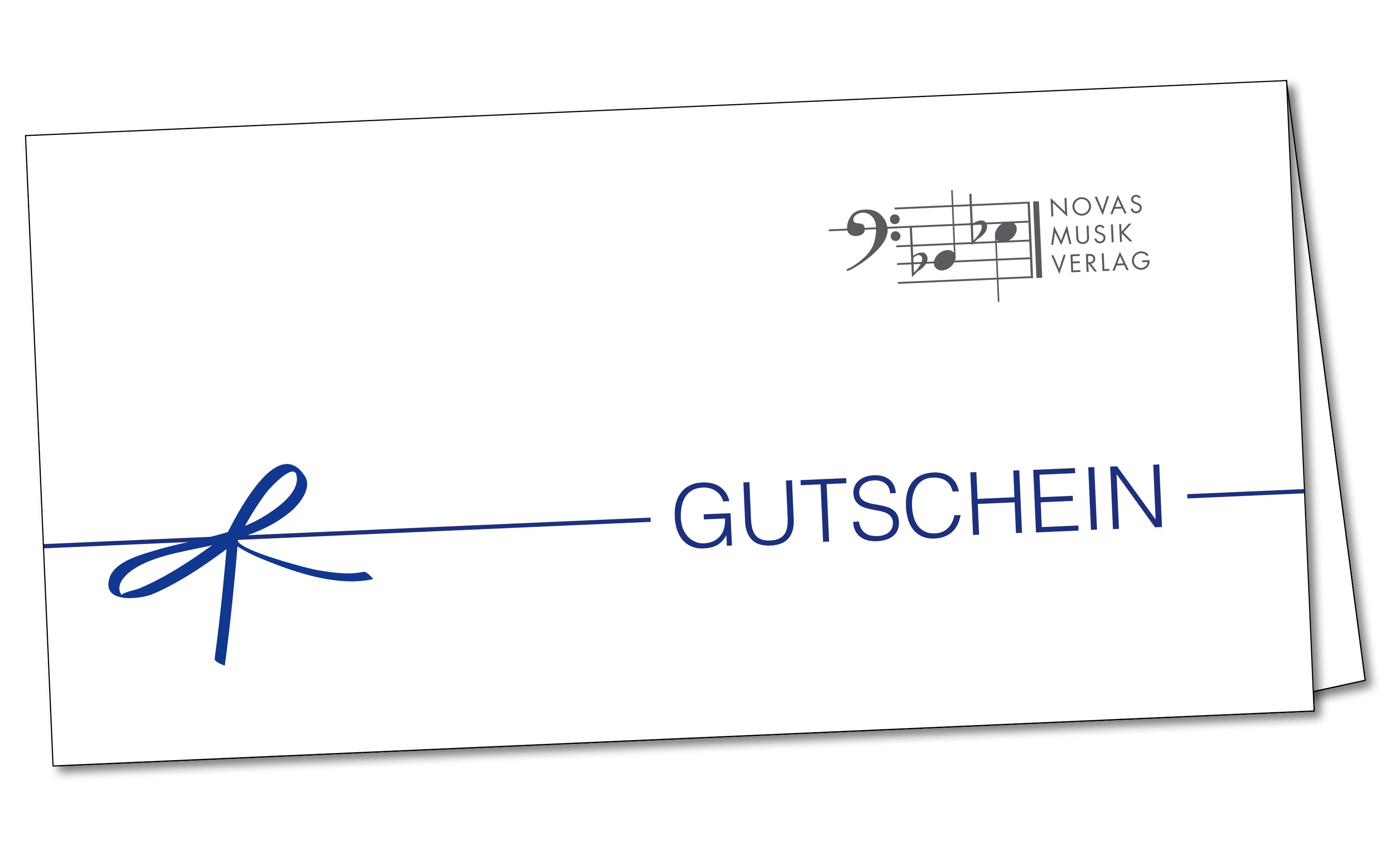 Ein Gutschein von Novas Musikverlag – Das perfekte Geschenk!